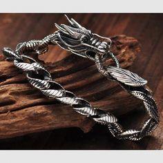 Silver Bracelets, Sterling Silver Necklaces, Silver Earrings, Silver Jewelry, Fine Jewelry, Beaded Bracelets, 925 Silver, Silver Ring, Dragon Bracelet