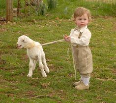 boy with lamb - RJN Photography -- Rebecca Nagy