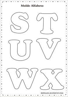 Alphabet Letter Templates, Printable Letters, Alphabet And Numbers, Cut Out Letters, Diy Letters, Felt Patterns, Applique Patterns, Felt Name, Lettering Design