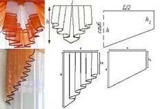 Resultado de imagen para выкройка кокилье для ламбрекена