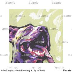 Pitbull Bright Colorful Pop Dog Art Follow the link to see this product on Zazzle! @zazzle #dog #dogs #dogstuff #dogpin #pet #pets #animals #animal #fun #buy #shop #shopping #sale #gift #dogowner #dogmom #dogdad #home #decor #homedecor #interiordesign #design #apartment #interior #artprint #art #funny #lol #cute
