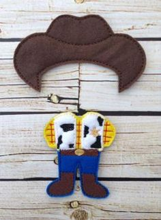 Toy Cowboy Outfit 5x7 nonpaper doll
