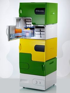 Stackable Fridge for roommates but would work well since we have our dogs on the raw diet and I would like to keep their food separate from my food.