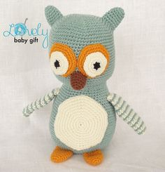 Amigurumi Pattern Crochet Owl Pattern Stuffed by LovelyBabyGift