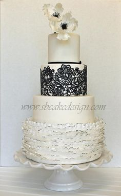 Black and White Wedding Cake - Cake by Shannon Bond Cake Design