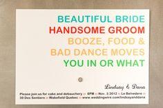 Cute & original #wedding #invitation. Photography by troystlouis.com, Invitations by printablepress.com