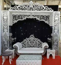 Royal Furniture, Gothic Furniture, Home Decor Furniture, Backdrop Frame, Backdrops, Stage Decorations, Wedding Decorations, Cnc Cutting Design, Morrocan Decor