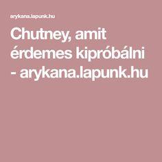 Chutney, Chutneys