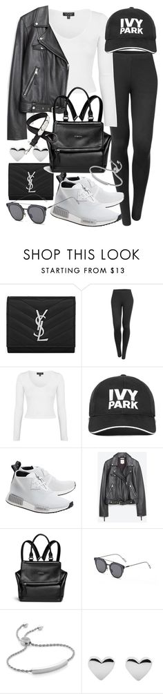 """""""Untitled #19797"""" by florencia95 ❤ liked on Polyvore featuring Yves Saint Laurent, LE3NO, Topshop, Ivy Park, adidas Originals, Zara, Givenchy, GANT and Monica Vinader"""