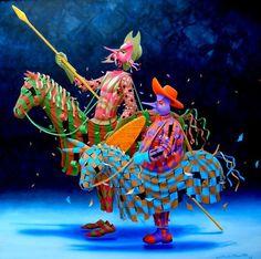 Representacion teatral de Don Quijote de la Mancha.