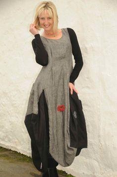 Mara Gibbucci long poppy dress.872