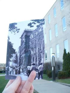 This photo was taken in 1985. Who remembers the ivy growing on Bradley Hall?