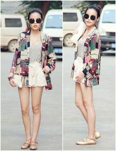 not a fan of the sunnies but loving the shorts and kimono