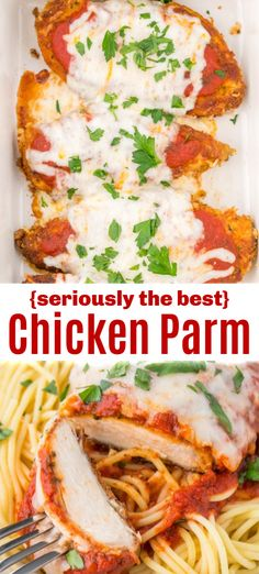 Classic Chicken Parmesan recipe with parmesan crusted tender chicken, topped with marinara and cheese. Chicken Parm is an easy, excellent 30 minute dinner. dinner recipes with chicken Chicken Parmesan Recipe Chicken Parmesan Recipes, Easy Chicken Recipes, Recipe Chicken, Chicken Parmesan Recipe With Chicken Tenders, Batter For Chicken, Parmesean Crusted Chicken, Chicken Parmesian, Good Easy Dinner Recipes, Chicken Recipes For Dinner
