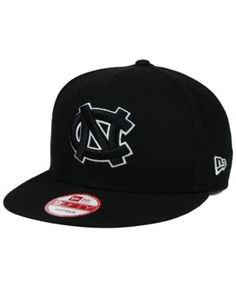 6bc95eb6a82 New Era North Carolina Tar Heels Black White 9FIFTY Snapback Cap - Black  Adjustable
