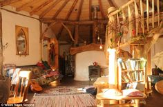 Unique cob house ordered torn down: The couple's front room, complete. They started building their house using only naturally resourced materials last year