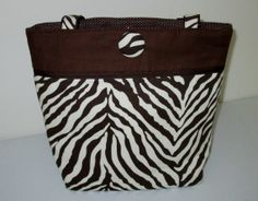 Jacqueline  Zebra medium tote by kaydeesbagboutique on Etsy, $53.00