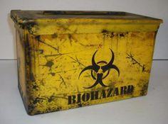 ZOMBIE-CAN-CUSTOM-PAINT-50-CAL-AMMO-BOX-034-BIO-HAZARD-034