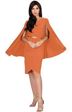 dc7e60b542 KOH KOH Petite Womens Long Cape Batwing Cloak Dolman Sleeve Belt Knee  Length Fall Winter Work