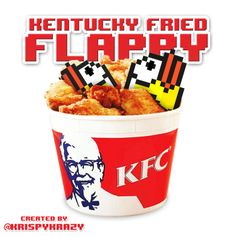 Kentucky Fried Flappy!  Posting all original art daily! #Follow me and thx for the support!  #krispykrazy #kristiangabriel #funny #lol #lmao #lmfao #hilarious #photooftheday #instahappy #epic #instafun #funnypictures #haha #humor #instagood #love #instadaily #igdaily #game #games #fun #addictive #geeky #flappybird #mario #nintendo #gamer #8bit