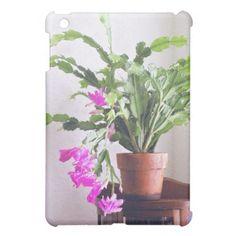 Embossed Pink Christmas Cactus iPad Mini Case