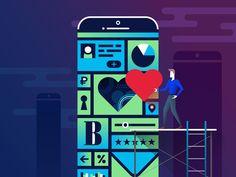 Mobile development for corporations by Dmitry Taranov  #mobile #design #illustration #love #corporation #meetup #ux #ui #dribbble #dribbbleshot