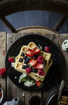 waffels&berries. drizzle them with pure Vermont #maplesyrup!