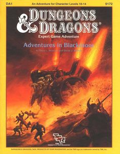 A juggernaut rolls through opposing armies with a roar of steam and flame. Sci-fi and steampunk elements abound in Blackmoor, from great machines to crashed spaceships. (Jeff Easley cover for D&D...