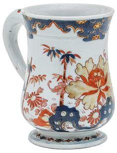 """""""Mug"""" em porcelana Companhia das Índias decorada em ric.."""