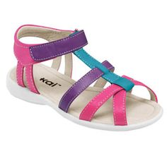 Perfect for the little girl who changes her mind & favorite color frequently; or in my case, great for the mother of twins.  One loves blue and the other says her favorite color is pink/purple swirl -- not just pink or purple but pink/purple swirl.    See Kai Run Harper Hot Pink Girls Sandal   from seekairun.com - cool baby shoes, toddler shoes, kids shoes and baby booties.