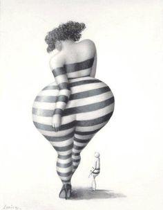 jeanne lorioz - plus positive fatspo art Plus Size Art, Fat Art, Plus Size Beauty, Fat Women, Art Plastique, Big And Beautiful, Black Art, Lovers Art, Female Art