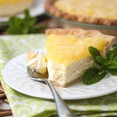 Ricotta-Pineapple Pie: light and airy, perfect for summer. A recipe from the Sopranos Family Cookbook.