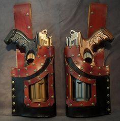 """Set """"Nerf gun"""" Holster. $110.00, via Etsy."""