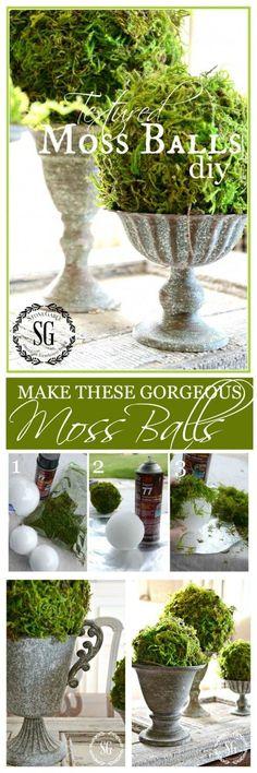 TEXTURED MOSS BALL DIY - StoneGable
