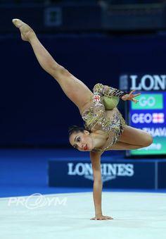 Salome PAZHAVA (Gegorgia)🇬🇪 ~ Ball  @ World Challenge Cup Pesaro-Italy🇮🇹 03/09/'17🇮🇹 ❤️💖  Photo by ProGym.