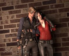 Leon ada by on deviantART Ada Resident Evil, Resident Evil Cosplay, Resident Evil Anime, Ada Wong, Leon S Kennedy, Evil World, The Evil Within, Games Images, Comic Games