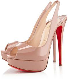 Christian Louboutin Pink Lady Peep Sling $945