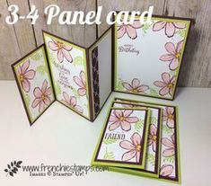 3 or 4 panels card, Garden in Blooms, Awesomely Artistic, Beautiful Bouquet, Frenchiestamps, Stampin'Up!