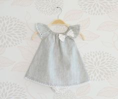 Little girl outfit, Elegant Ruffle Sleeves Dress with lace for baby girls, Gift Set for Newborn on Etsy, $52.00