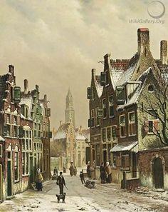 Oene Romkes de Jongh - Winters stadsgezicht (2)