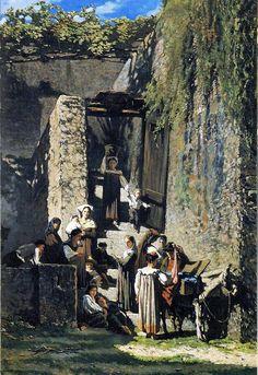 Telemaco Signorini (Firenze, 1835 - 1901) Il merciaio di La Spezia, 1859