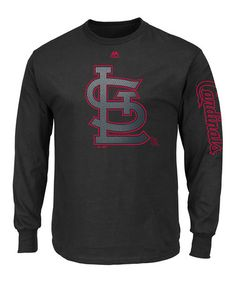 Look at this #zulilyfind! St. Louis Cardinals Large Logo Long Sleeve Tee - Big & Tall #zulilyfinds