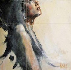 """Saatchi Art Artist silja selonen; Painting, """"ange"""" #art"""