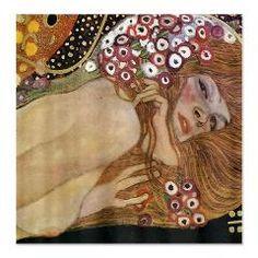 Gustav Klimt Water Serpents 2 (detail) Shower Curtain