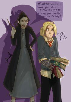 FMA and Harry Potter xover by sharadaprincess