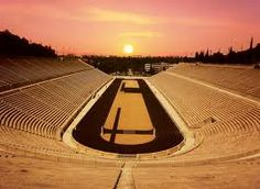"""The Panathenaic Stadium or Panathinaiko, also known as the Kallimarmaro (Καλλιμάρμαρο, meaning the """"beautifully marbled""""), is a multi-purpose stadium used for several events and athletics in Athens that hosted the first modern Olympic Games in 1896. Reconstructed from the remains of an ancient Greek stadium, the Panathenaic is the only major stadium in the world built entirely of white marble[citation needed] (from Mount Penteli) and is one of the oldest in the world."""
