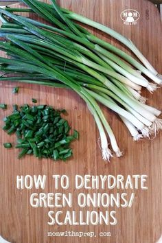 diy food Green onions (or scallions) may seem one of those foods that doesnt seem worth dehydrating.but think again! You can do something amazing with them to make them more versatile in your PREPared kitchen! Dehydrated Vegetables, Dehydrated Food, Canning Food Preservation, Preserving Food, Dehydrator Recipes, Canning Recipes, Canning 101, Canning Jars, Jar Recipes