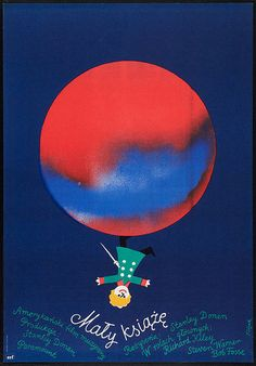 Polish film poster for The Little Prince, art by Jerzy Flisak (1977).