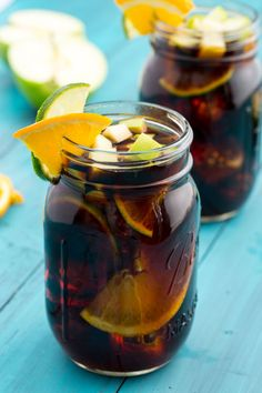 Have your coffee—and spike it too with this Cold Brew Sangria.