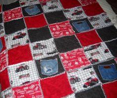 Rag quilt IH tractors & wrangler patches